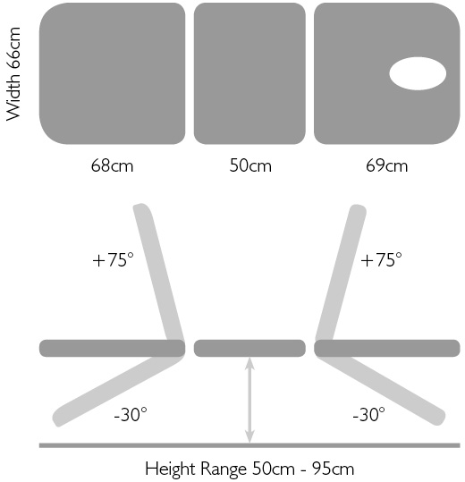 Titan Med performance 3 section dimensions