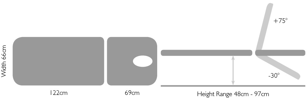 Titan Med ultra 2 section dimensions